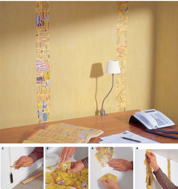 Collage mit Altpapier
