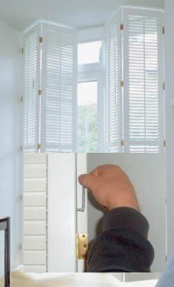 Fenster-Innenläden aus Holz