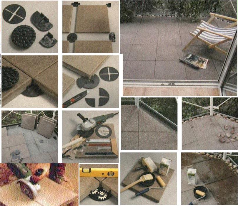 Bodenplatten trocken verlegen - Der Boden für Balkon und Terrasse